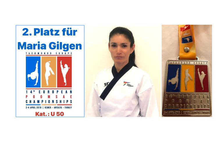 Silver Medal-Maria Gilgen F U50-2019 European Poomsae Championship