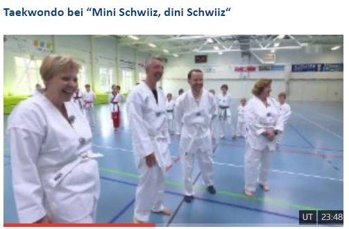 """Taekwondo bei """"Mini Schwiiz, dini Schwiiz"""" – Noël's Taekwondo in Swiss TV"""