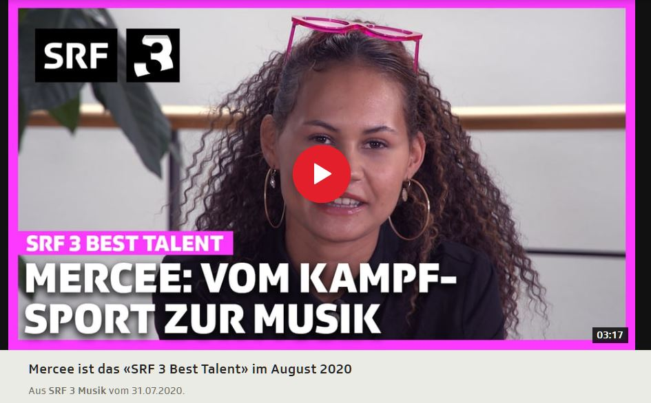 Mercee: Von Taekwondo zur Musik / SRF 3 Best Talent August 2020