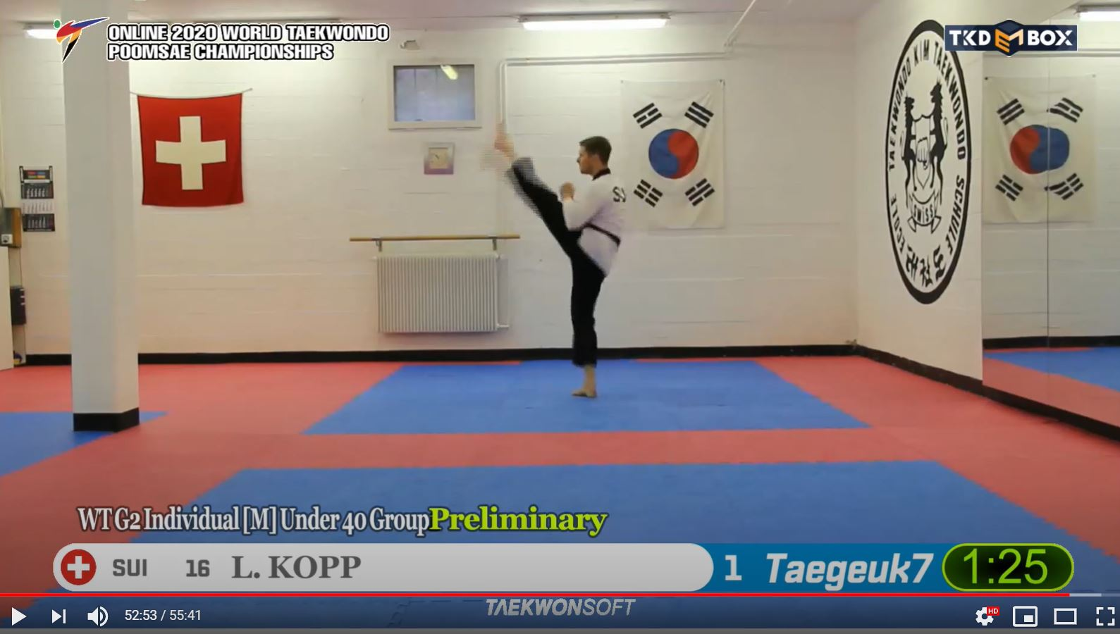 Results Preliminary Round Online 2020 World Taekwondo Poomsae Championships