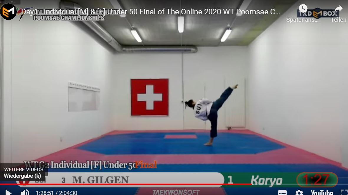 Results Finale Round Online 2020 World Taekwondo Poomsae Championships