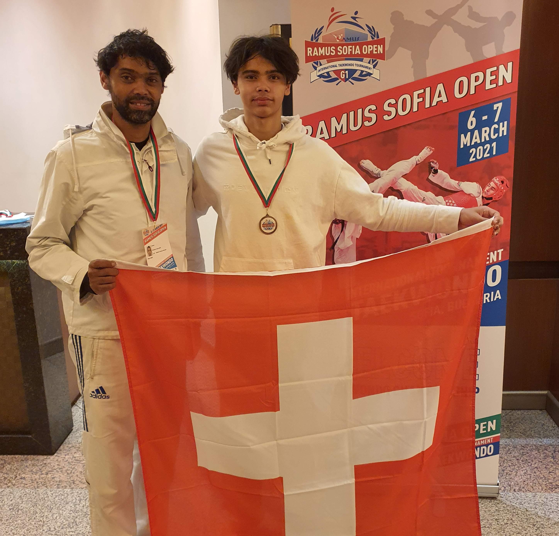 Bronze Medal Warrick Galland (MAA Geneva)-WT G1 Sofia Open 2020