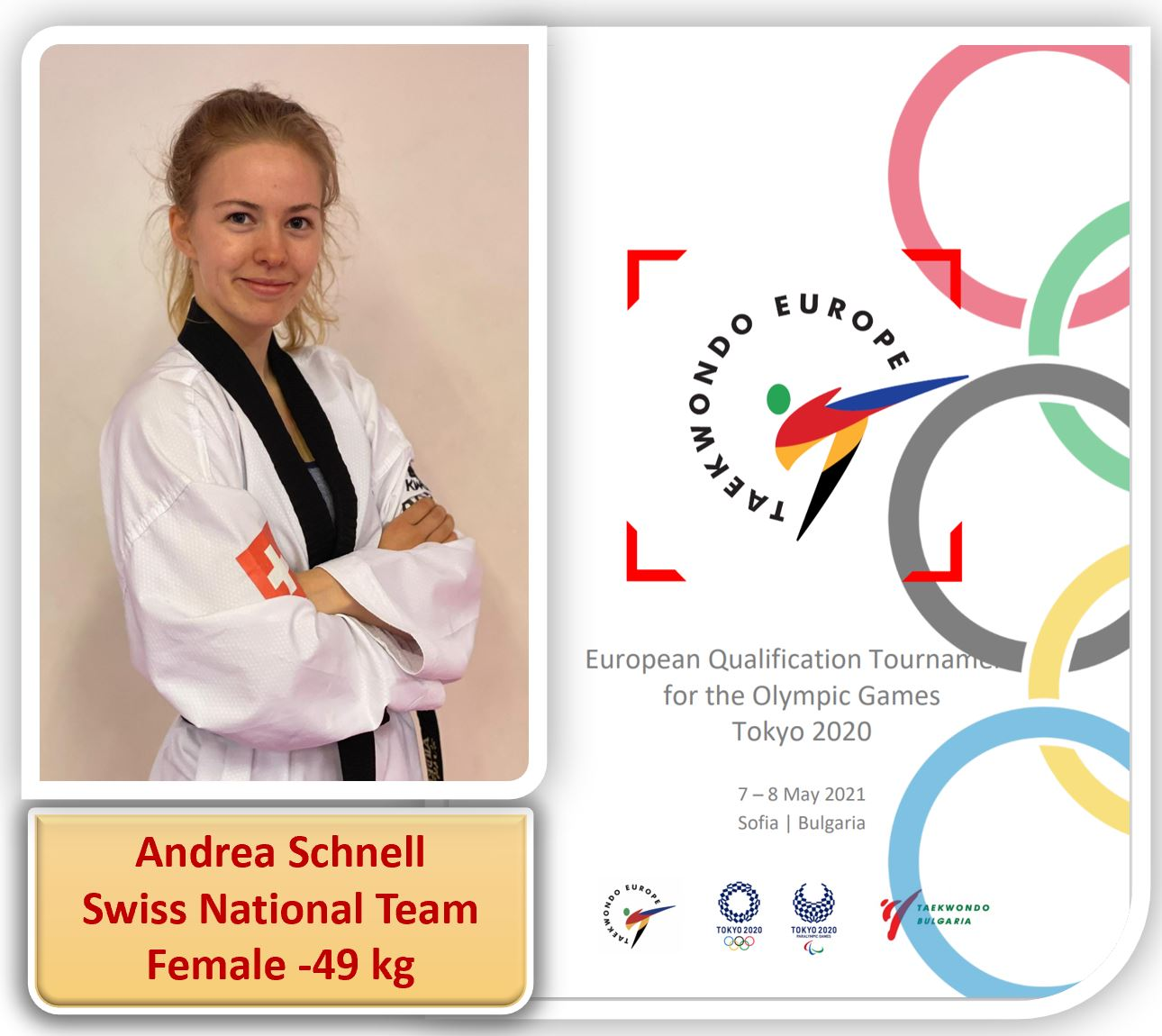Andrea SCHNELL, Swiss National Team :European Qualification for Tokyo Olympic Games – Sofia, Bulgaria – 07-08.05.2021