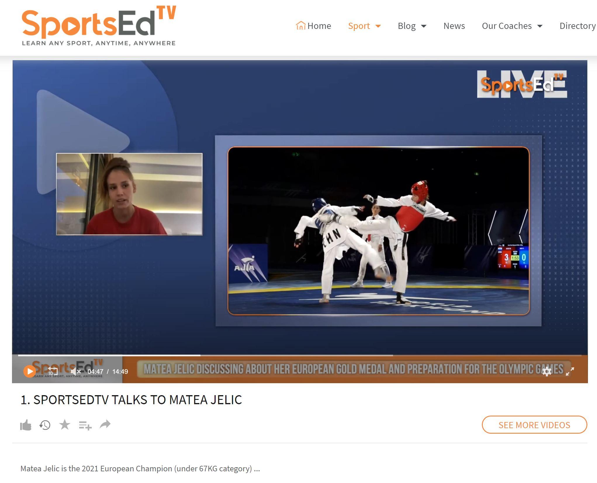 SPORTSEDTV TALKS TO MATEA JELIC