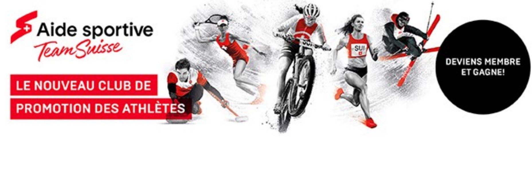 Team Suisse – Le nouveau club de promotion des athlètes / Team Suisse – der neue Athletenförderclub